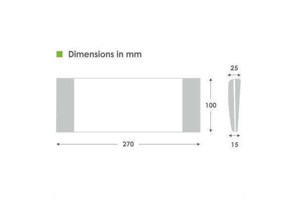 Photismos Asphalias Slim Leds GR 2000 Diastaseis