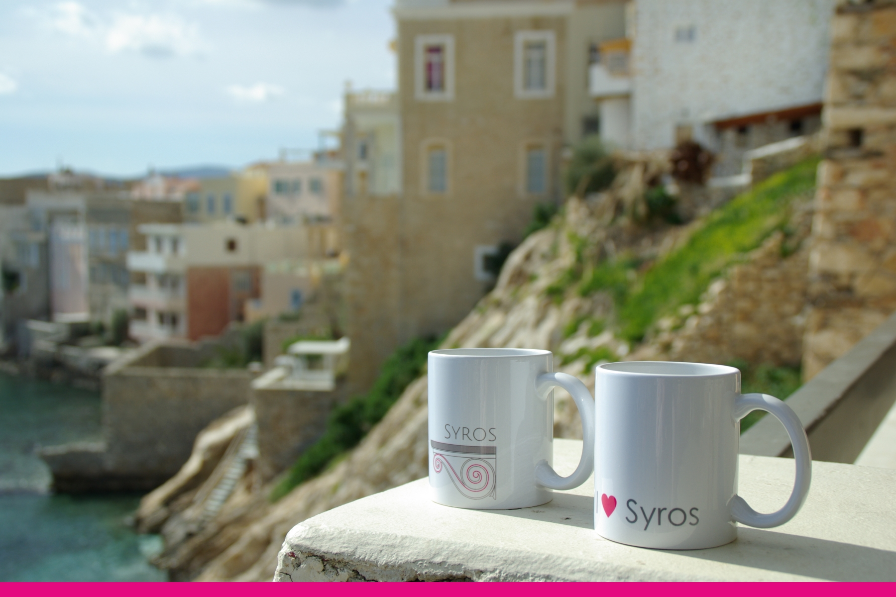Coffee mugs from Syros