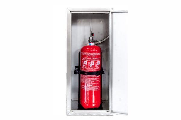 Ανοξείδωτη Θήκη για πυροσβεστήρα 9lt