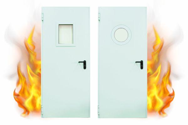 Μονόφυλλη Πυράντοχη Πόρτα 60' με τζάμι