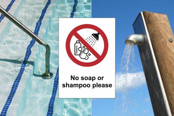 Πινακίδες – Μη χρησιμοποιείτε σαπούνι ή σαμπουάν