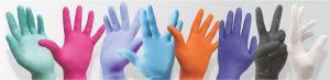 Χρώματα Γάντια Νιτριλίου